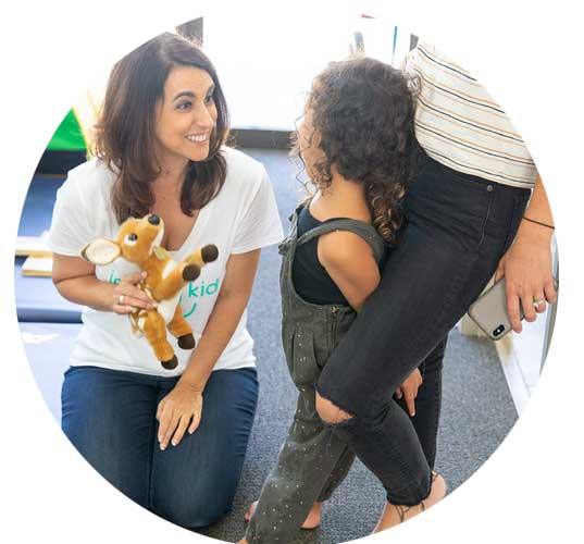 Mom and daughter visiting Infinity Kids for Family Therapy